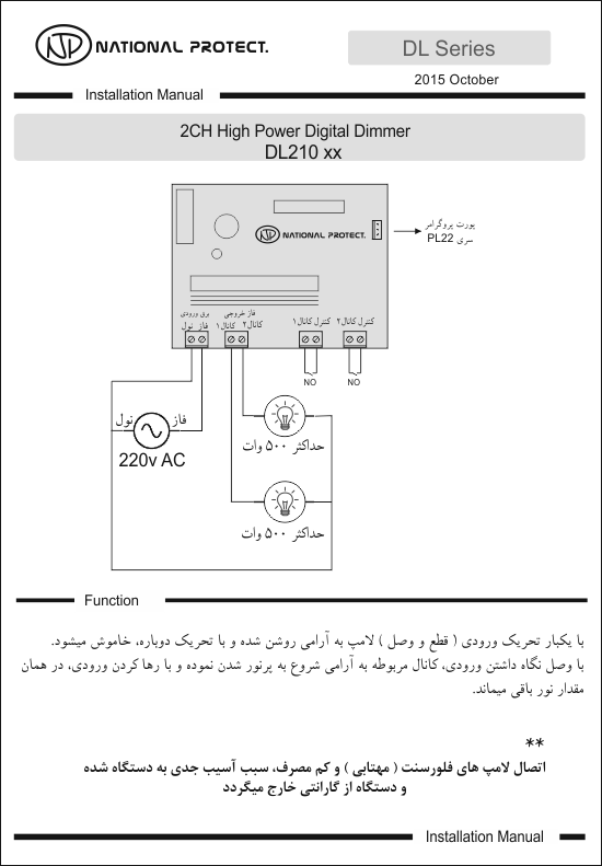 Wiring Diagram DL210x